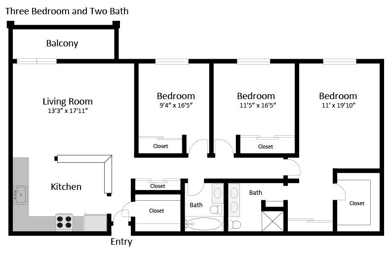 3br 2ba floorplan