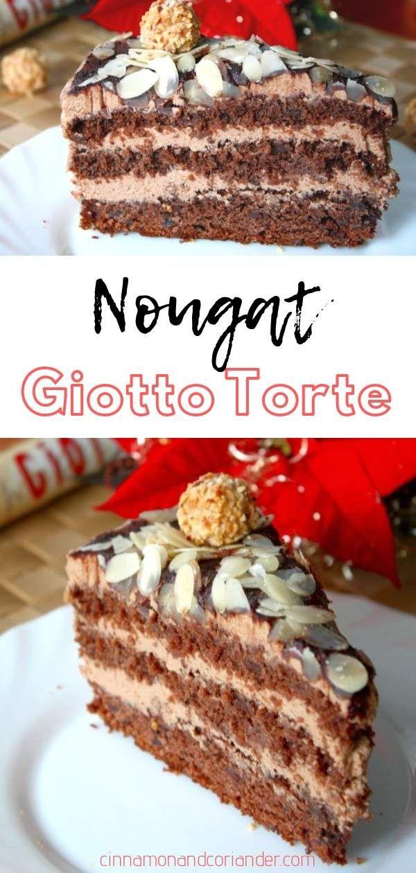 Giotto Torte Mit Nougat Creme Die Beste Nusstorte Rezept Giotto Torte Giotto Kuchen Giotto Torte Rezept