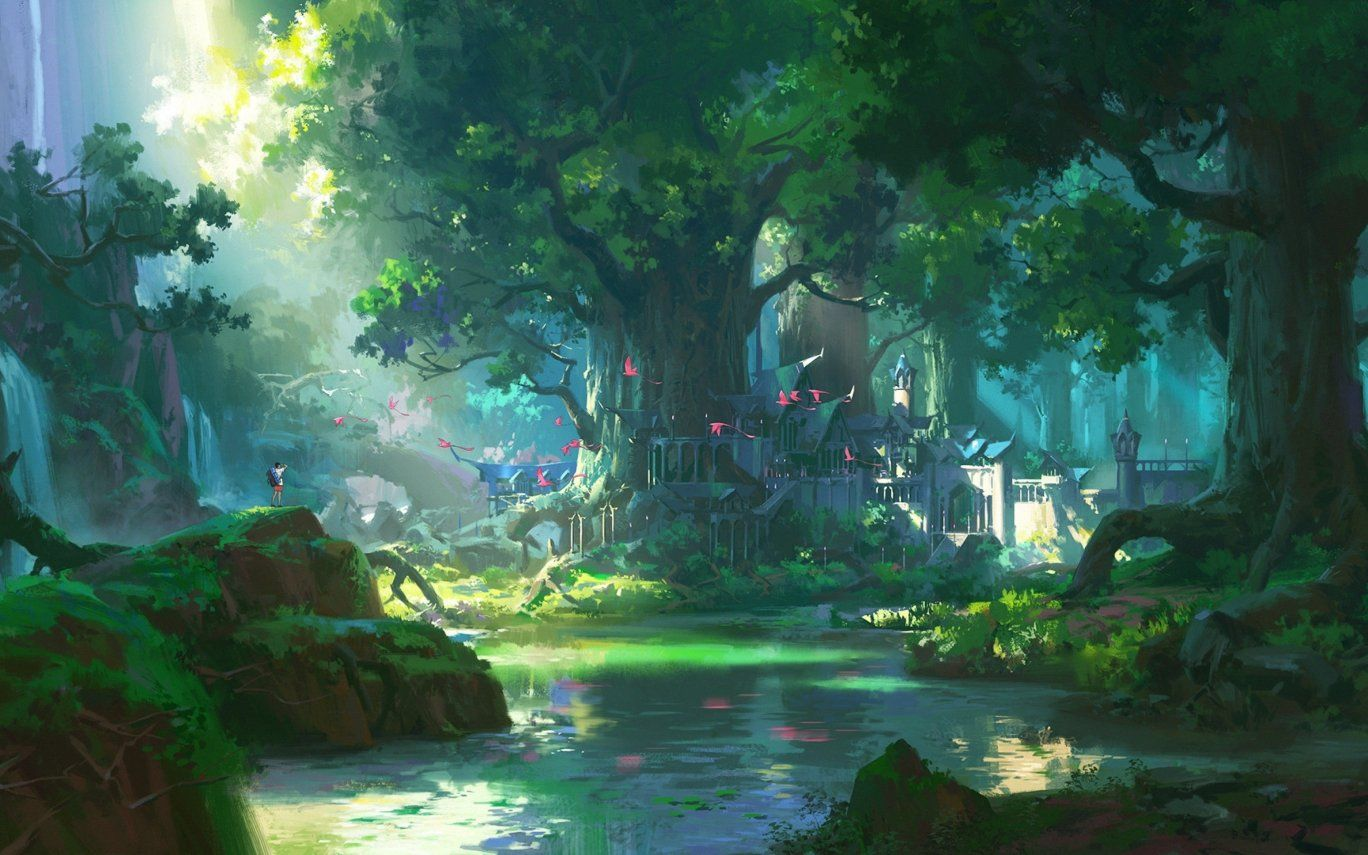 4k Wallpaper Anime Landscape HD Art Wallpaper di 2020