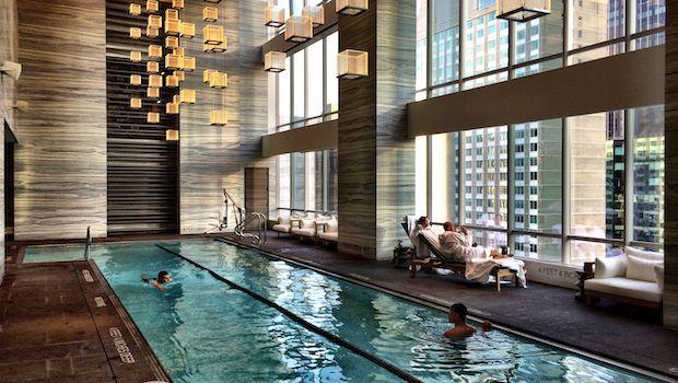 Swanky Midtown Pool Plays Underwater Classical Music Hotel Pool Hotel Swimming Pool Indoor Swimming Pools