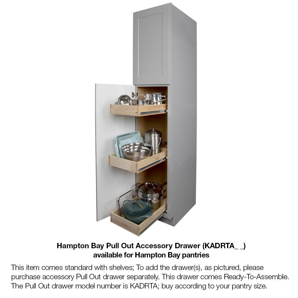 Hampton Bay Hampton Assembled 18x84x24 In Pantry Kitchen Cabinet In Natural Hickory Kp1884 Nhk The Home Depot Utility Cabinets Cabinet Pantry Cabinet