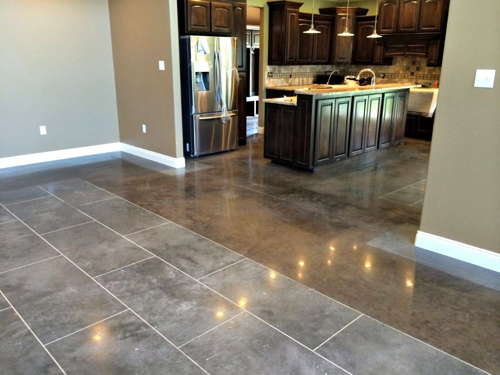 Decorative Concrete Finishes Stained concrete, Polished