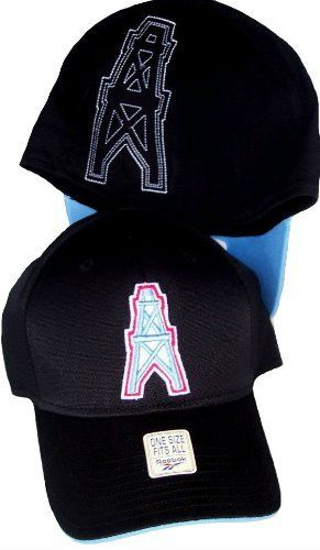 Houston Oilers Throwback Black Hat Cap Flex Fit NFL Authentic Vintage  Collection by Reebok.  19.99 7ac5e7a3ba42