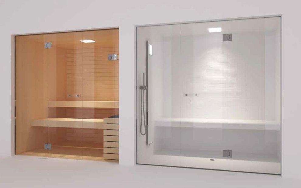 Steam Room Vs Sauna With Contemporary Home Gym Also Frameless Glass Doors Hamman Spa Wellness Shower Bench And