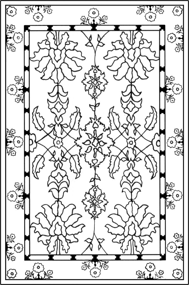 Coloring Pages Prayer Rug 2020 Simple Carpets