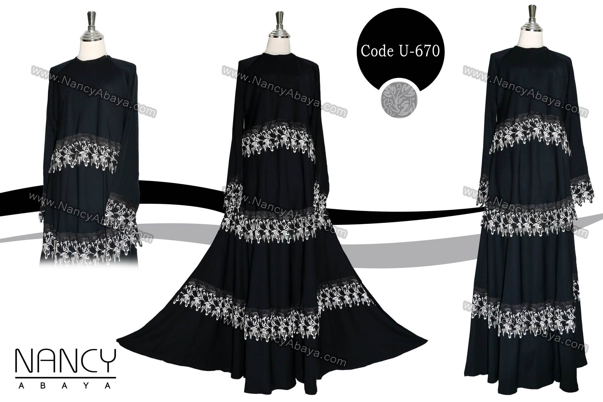 Lace umbrella abaya  Available Sizes