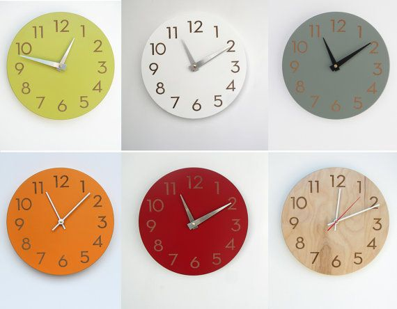 10 Inch Medium Size Modern Wall Clock With Numbers By Uncommon Wall Clock Numbers Wall Clock Modern Wall Clock