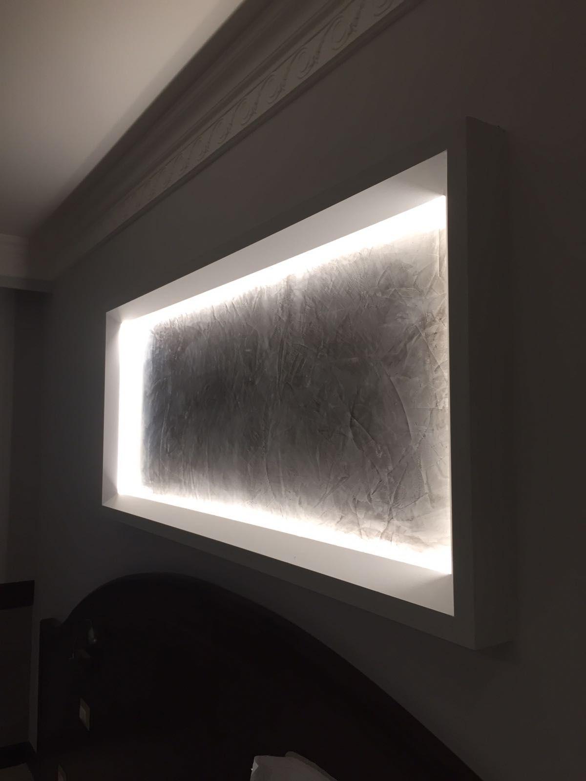 Lampada Sopra Specchio Bagno nicchia gyps retroilluminata sopra la sponda del letto (con