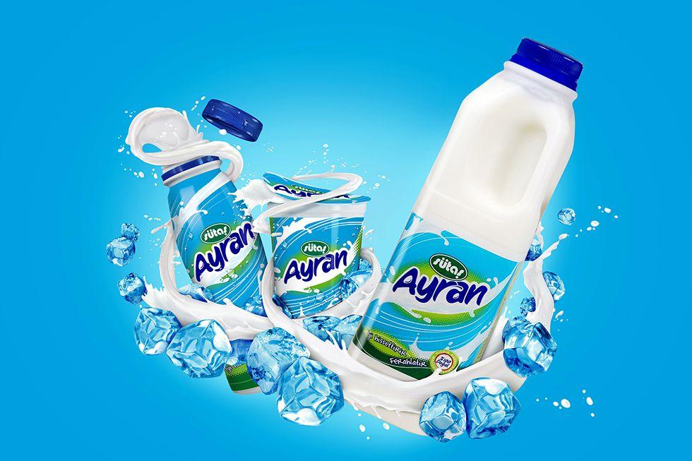 Sütaş Yoghurt Drink   Içecekler, Tasarım, Totemler