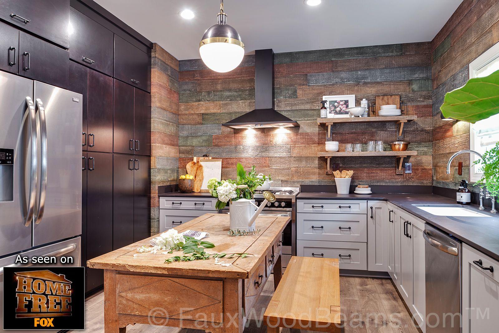 Best Reclaimed Barn Board Panels Kitchen Designs Photo Gallery 400 x 300