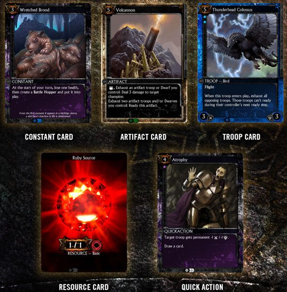 HEX Shards Of Fate Will Be A Massively Multiplayer Online Trading Card Game Board Design