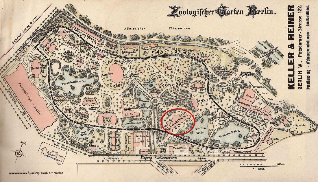 Zoologischer Garten Berlin Ca 1906 Zoo Map Berlin Zoo