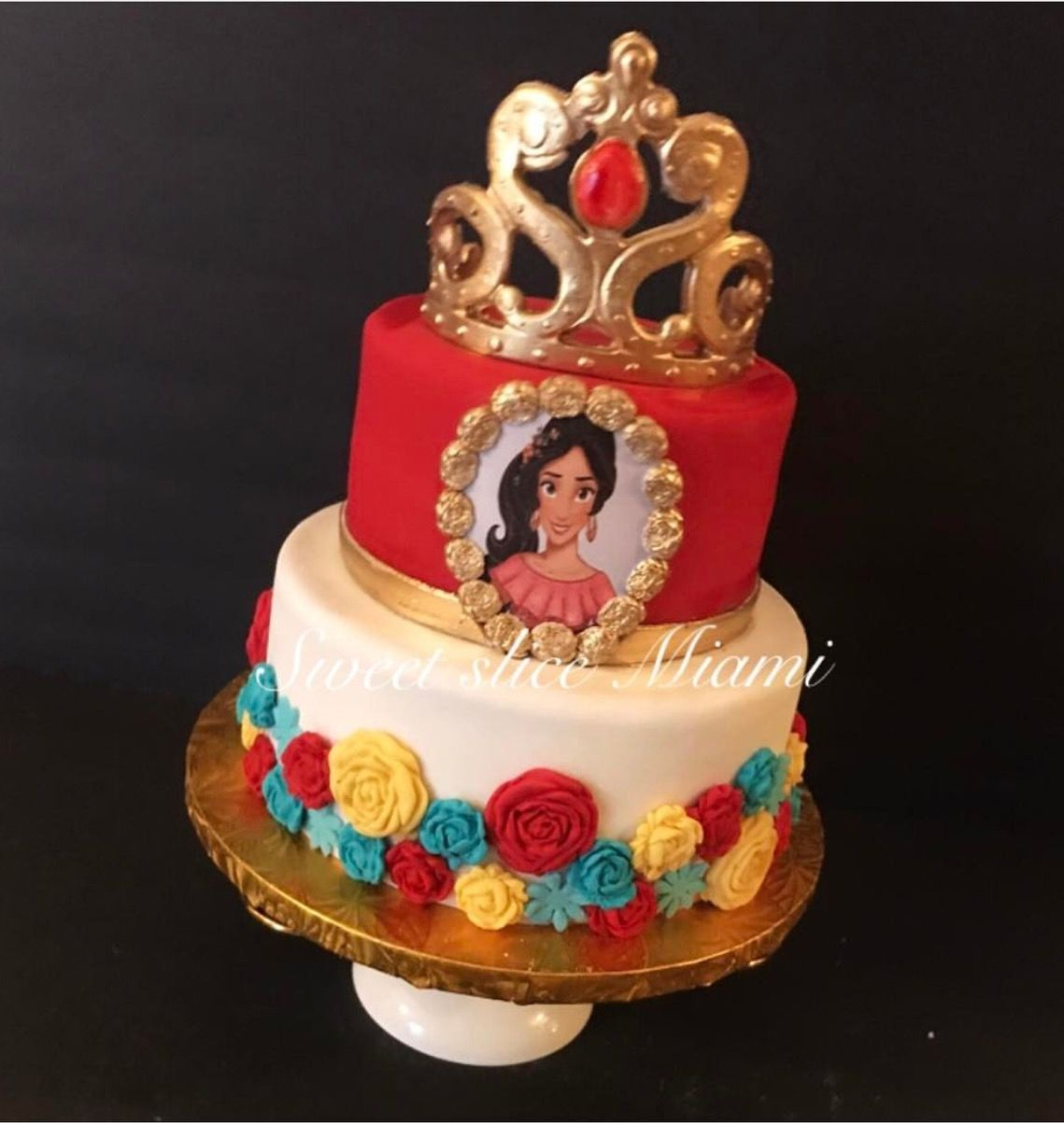 Elena Cake With Images Elena Birthday Party Princess Elena