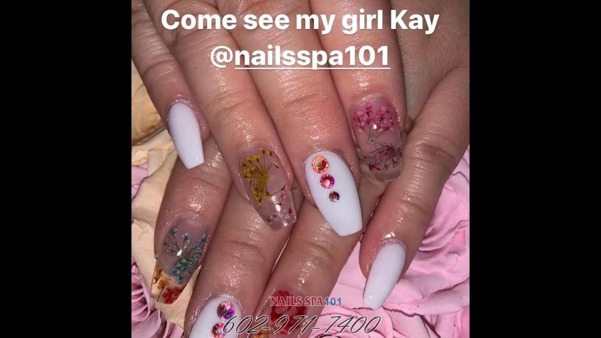 Nail Salon 85032 Nails Spa 101 Phoenix Az 85032 Video Summer Nails Nails Nail Designs