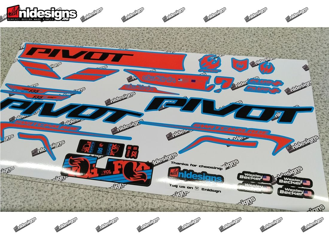 Custom Frame Decals For Pivot Switchblade