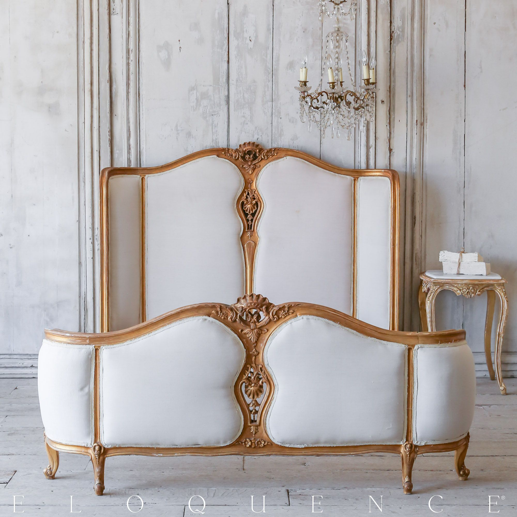 ELOQUENCE® Vintage Louis XV Style Bed, Circa 1940 Www