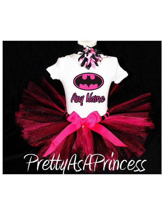 Batman Tutu Birthday Outfit Costume by PrettyAsAPrincess2 on Etsy, $24.99