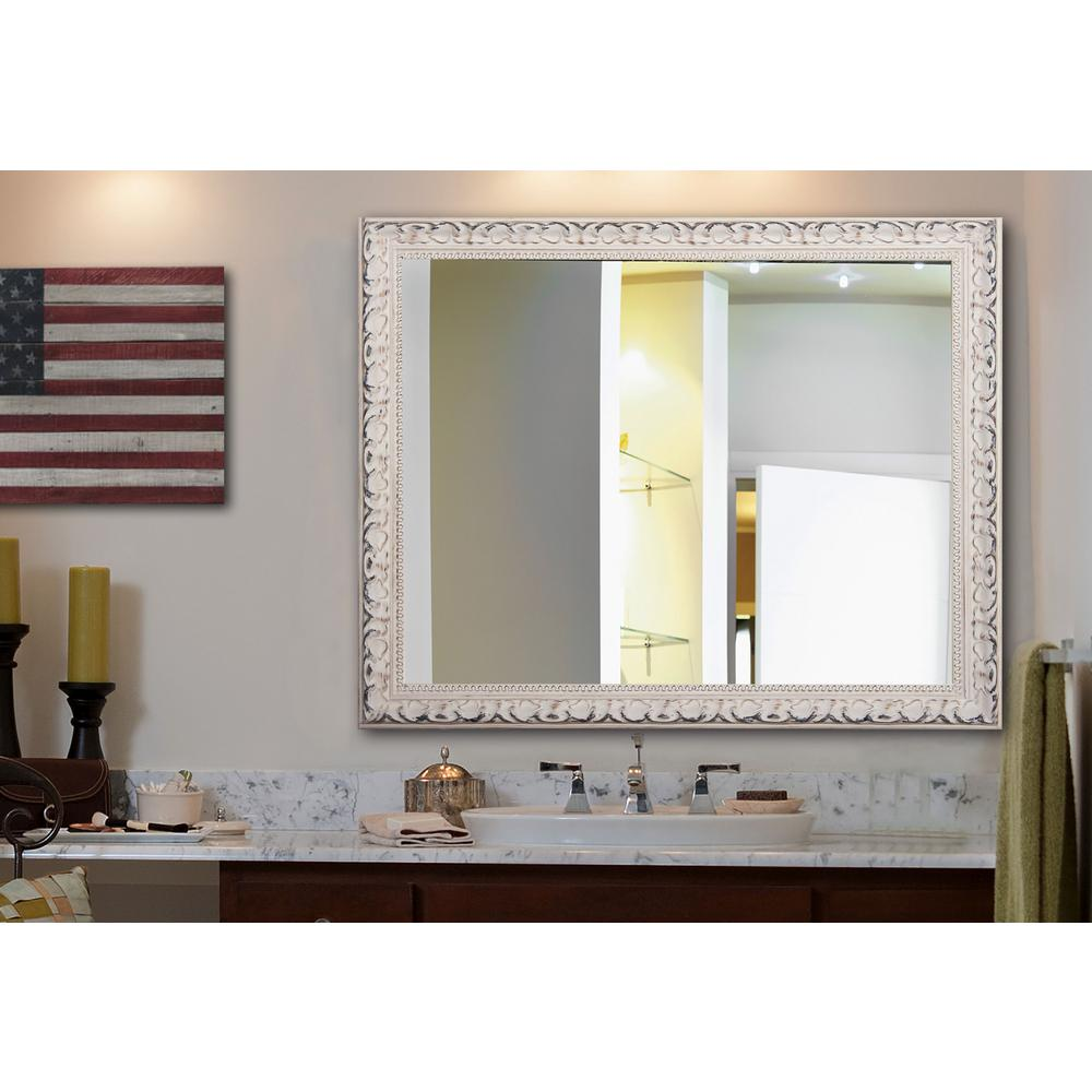 Rayne mirrors in x in french victorian white non beveled