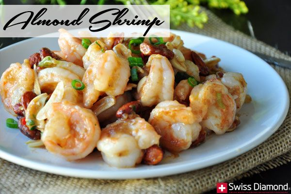 ALMOND SHRIMP #RECIPE | @Swiss Diamond Cookware | If you are looking for a chef inspired meal that doesn't require you to spend hours in the kitchen, look no further than this light, healthy and delicious shrimp recipe. One your guests taste the flavors and feel the textures this meal has to offer, it may quickly become your go-to meal.