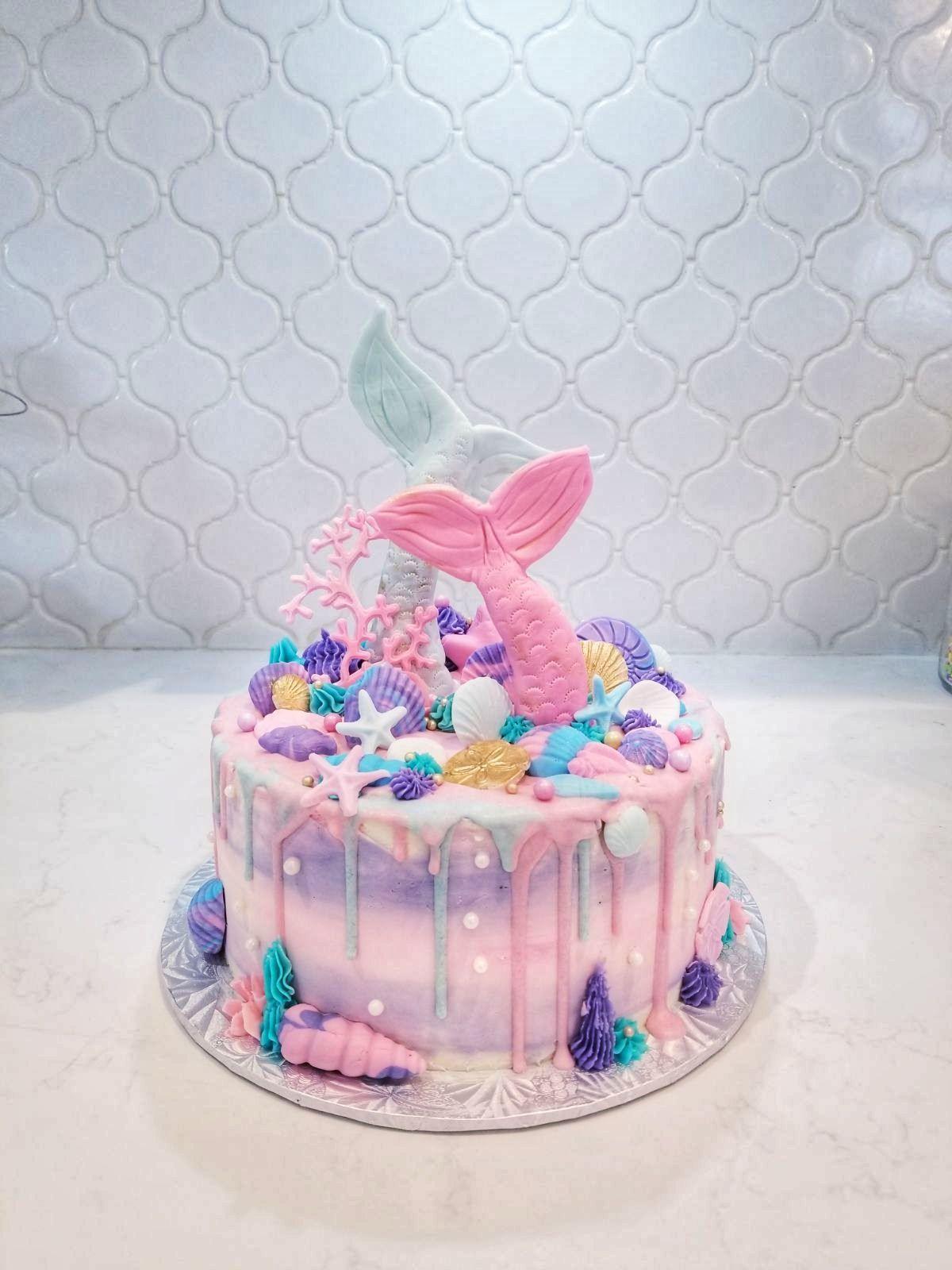 Delicious And Quick Recipes Mermaid Birthday Cakes Mermaid Cakes