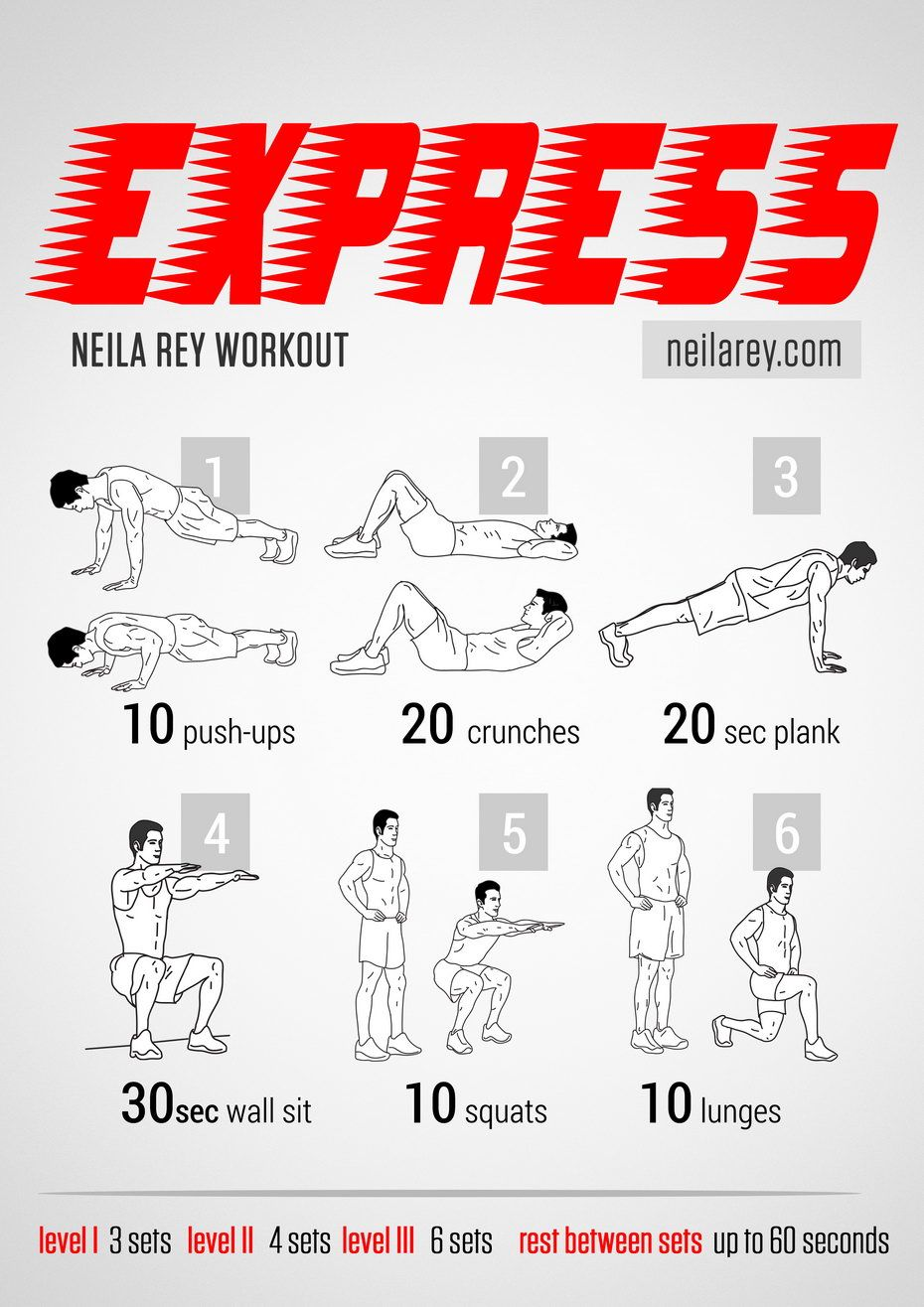 Express Workout Works Chest Triceps Biceps Quads Cardiovascular System Fitness Workoutroutine
