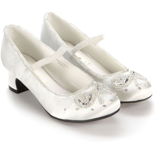 Monsoon Ivory Beaded Bow Cha Cha Cha Shoes ($35) ❤ liked on Polyvore