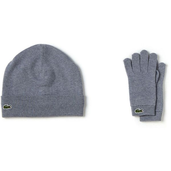 84f3adaba Lacoste Kid s Hat And Glove Set (190 BRL) ❤ liked on Polyvore featuring  accessories accessories and boys