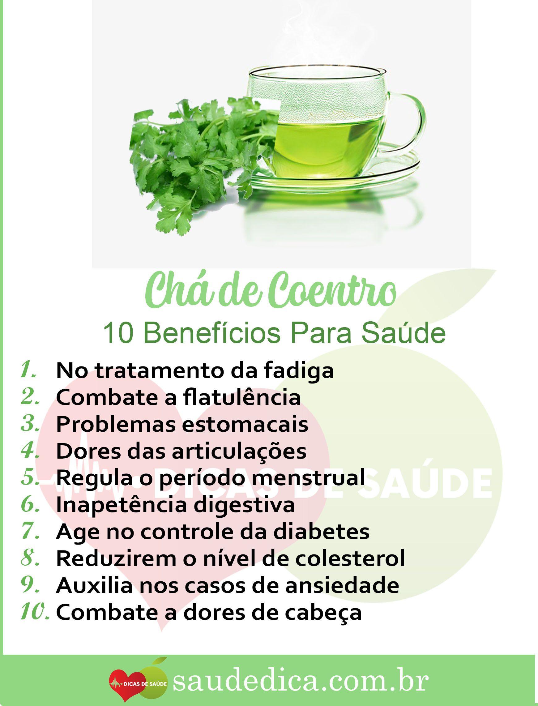Os 13 Beneficios Do Cha De Coentro Para Saude Chas Medicinais