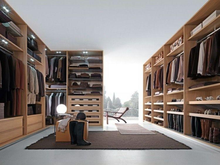 begehbarer kleiderschrank aus holz für das schlafzimmer ... - Begehbarer Kleiderschrank Nutzlicher Zusatz Zuhause