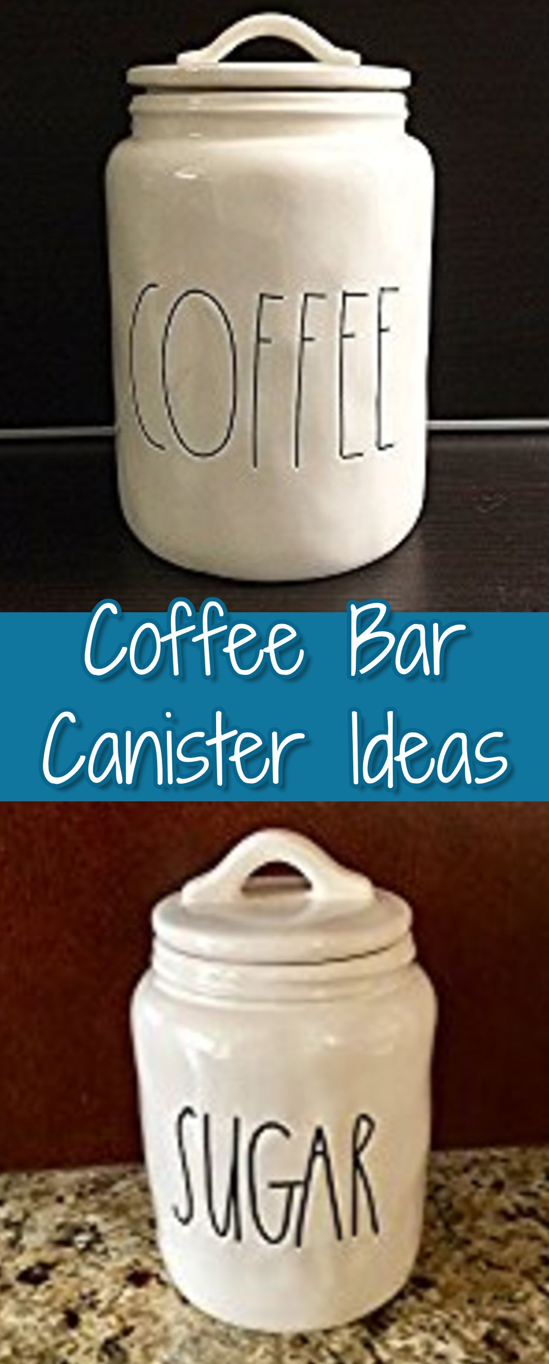 How about some cute canisters for your coffee station? Here are some of our favorite coffee station canisters and canister sets.