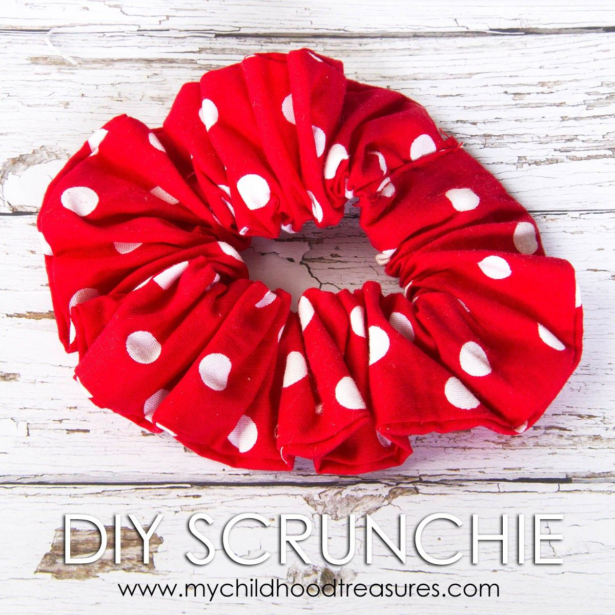 how to make a scrunchie | Sewing | Pinterest