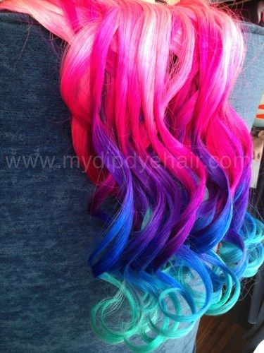 ombre hair extensionsblack hair with vibrant pink purple