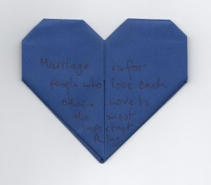 Heart # 817 - an artistic work supporting marriage equality.