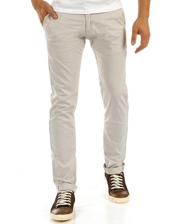 Spodnie męskie chinos beżowe (ux0878)  5c6339c0f2