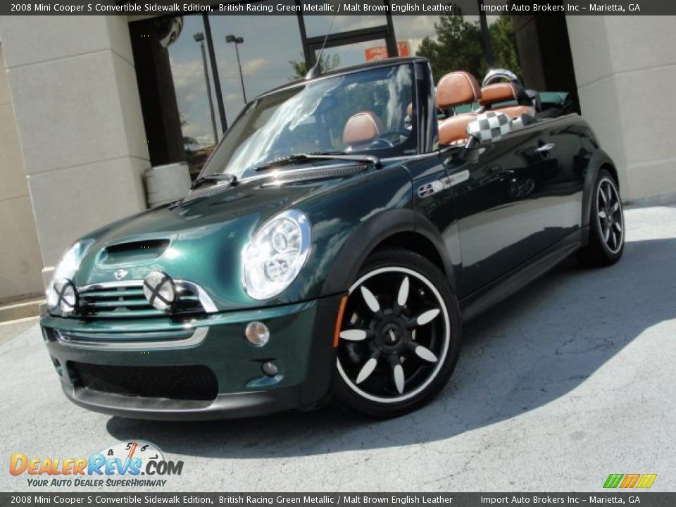 2008 Mini Cooper S Convertible Sidewalk Edition British Racing Green Metallic Malt Brown English Leather Photo Mini Cooper S British Racing Green Mini Cooper