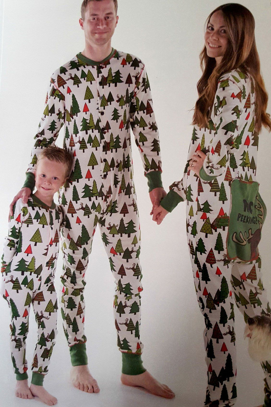 ed49335e1d Reindeer Christmas Trees Family Matching Pajamas Set For Xmas ...
