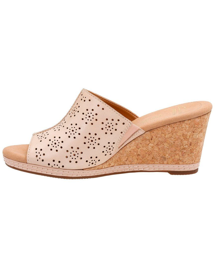 3d08ce7e0c2 Clarks Womens Helio Corridor Wedge Sandal Nude Leather 8 M US    Visit the  image link more details. (This is an affiliate link and I receive a  commission ...