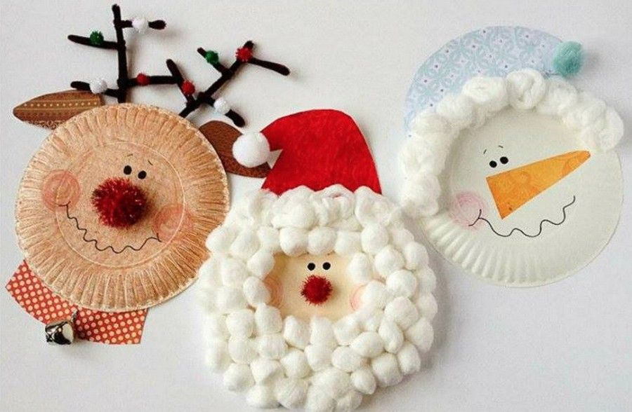 Paper Plate Characters Home Projects Pinterest Christmas