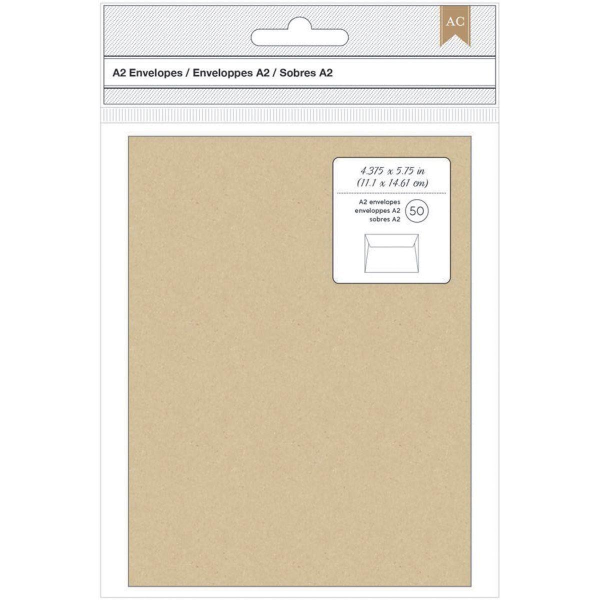 american crafts a2 envelopes 4 375x5 75 50 pkg kraft amazon ca