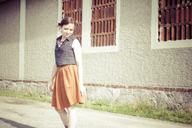Easy Peasy Skirt nähen   Garderoben