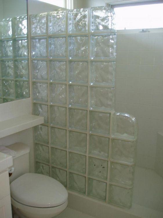 elegant bathroom glass tile ideas salle de bain Pinterest