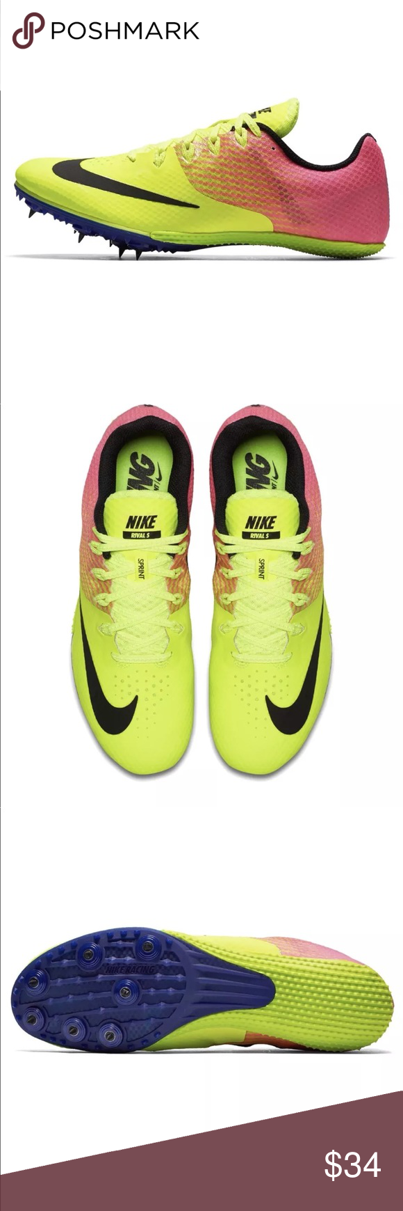low priced ca219 6ac7c Nike Zoom Rival S 8 OC Size 11 Sprint Track Spike Nike Zoom Rival S 8