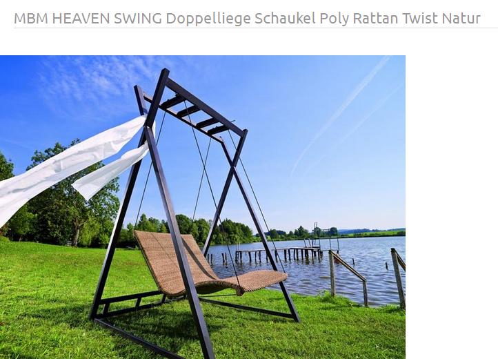 MBM Heaven Swing Schaukel | Gartenschaukel | Sonnenliege | garten ...