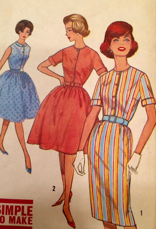 Simplicity 4426 Vintage Pattern Shirtwaist Dress Jackie Kennedy Size 14 Bust 34 1960s By Pastelvintage On Etsy