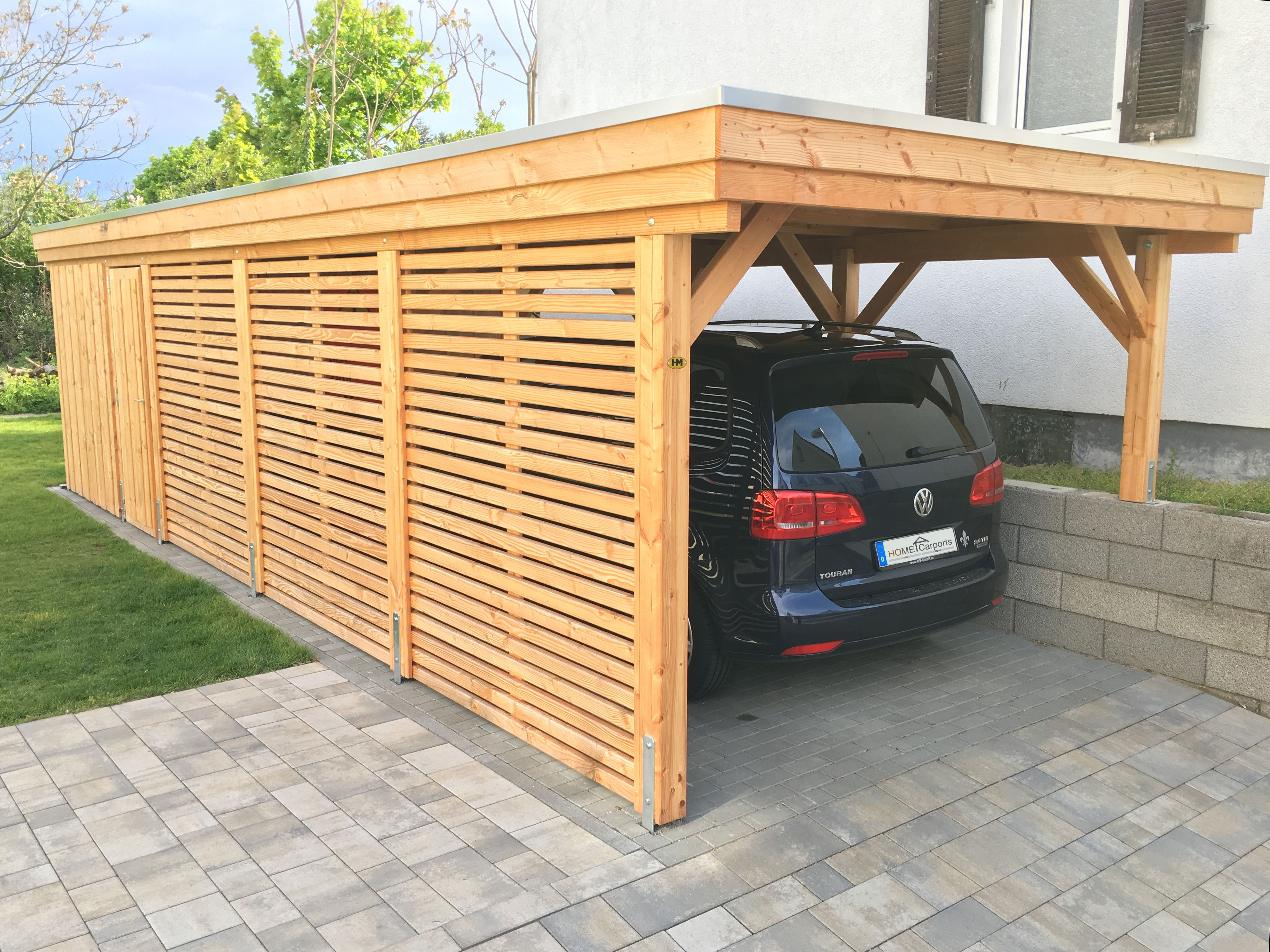 Pin by HOMECarports on Flachdach Carport Outdoor
