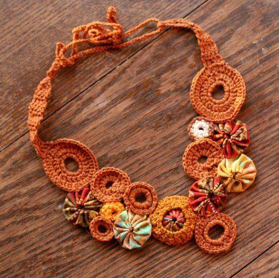 Arborist Knots Crochet Necklace  ready to ship by Abbe @ MeddleAndArmour, $44.95