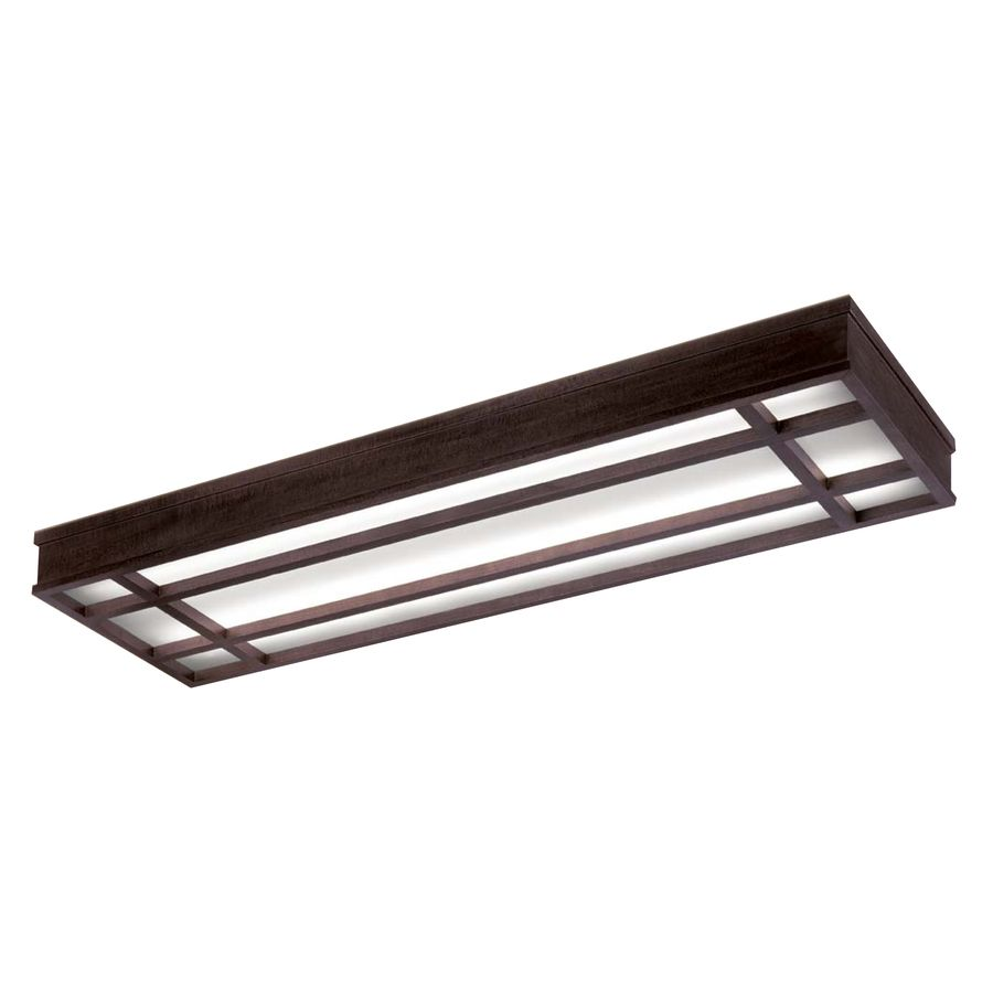 Shop Portfolio Bronze Flush Mount Fluorescent Light ENERGY STAR ...