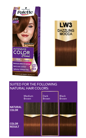 Intensive Color Creme Lw3 Dazzling Mocca Mahagony Hair Color Aubergine Hair Color Cool Brown Hair