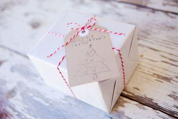 Homemade Childrens Christmas Tags