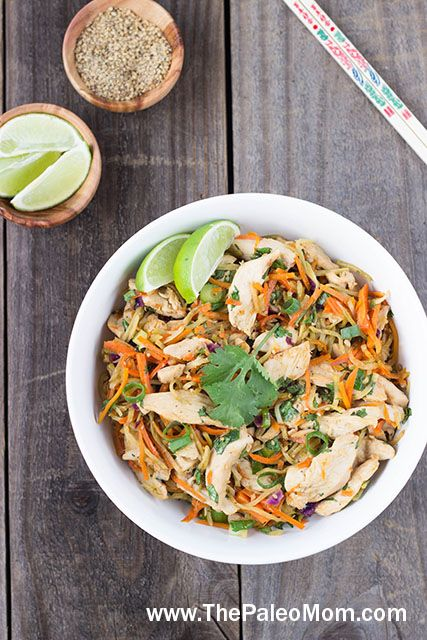 Paleo chicken pad thai the paleo mom delicious paleo entree find this pin and more on delicious paleo entree recipes forumfinder Gallery